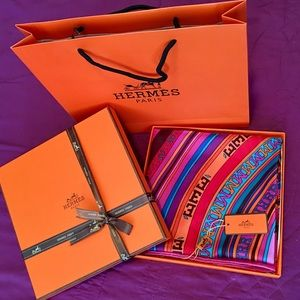 Beautiful Hermes Silk Shawl